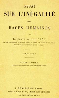 gobineau essay on the inequality of human races The moral and intellectual diversity of races by comte de arthur gobineau no  cover available download bibrec.